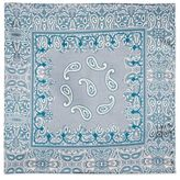 Paisley print silky scarf