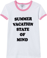 Wildfox Couture White and Pink School ́s Out Print Tee
