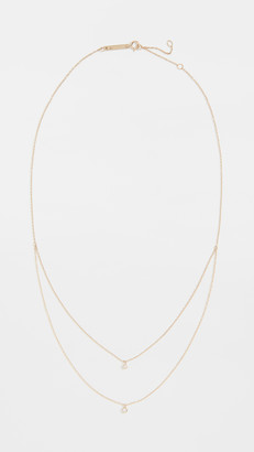 Zoë Chicco 14k Gold Double Layer Chain Necklace