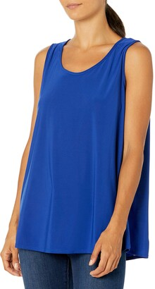 Star Vixen Women's Petite Sleeveless U-Neck Easy Fit Pullover Smooth Knit Top