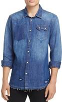 Scotch & Soda Amsterdams Blauw Premium Regular Fit Denim Shirt