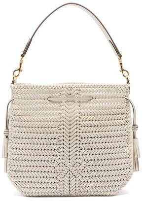 Anya Hindmarch Neeson Woven-leather Bucket Bag - Womens - Cream