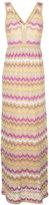 M Missoni striped maxi dress - women - Cotton/Polyamide/Polyester/Metallic Fibre - 40