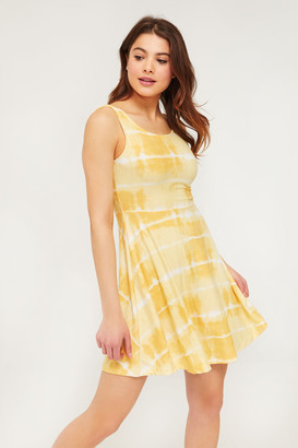 Ardene Basic Mini Tie-dye Skater Dress