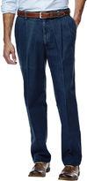 Haggar Work to Weekend Pleated Pants-Big & Tall