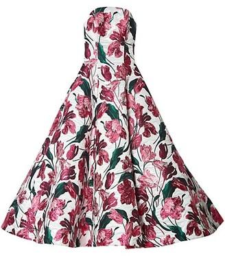 Carolina Herrera Strapless Dramatic A-Line Gown