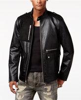 Sean John Men's Faux-Leather Moto Jacket