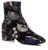 Giuseppe Zanotti Embroidered Velvet Block Heel Booties - 100% Exclusive