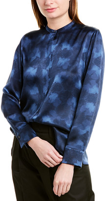 Vince Winter Tie-Dye Silk Blouse