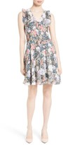 Rebecca Taylor Women's Penelope Floral Fit & Flare Silk Dress