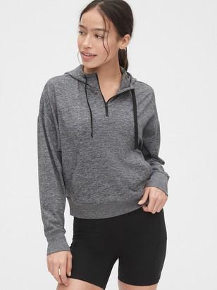 Gap GapFit Half-Zip Pullover Sweatshirt in Brushed Jersey