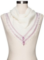 Merona Women's Fashion Scarves White with Striped Border