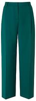 LK Bennett Elma Pleat Wide Leg Trousers, Green