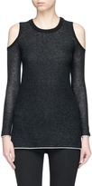 Alice + Olivia 'Wade' cold shoulder wool-cashmere sweater