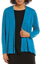 Eileen Fisher Simple Curved Hem Cardigan