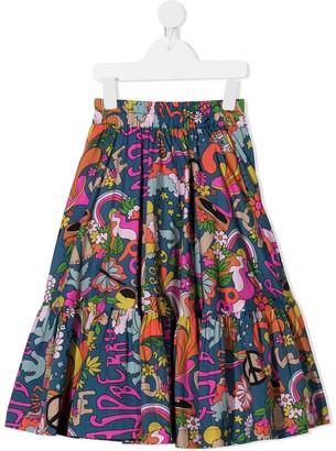 Raspberry Plum Gemma graphic-print skirt
