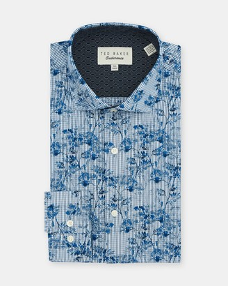 Ted Baker Floral Checked Cotton Shirt