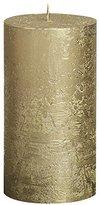 Rustic 103667640382 Metallic Pillar Candle, Paraffin Wax, Gold