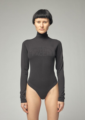 The North Face Black Women's Engineered Knit Graphic Body Suit Top Size XS