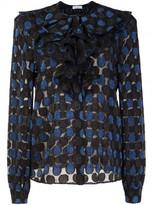 Sonia Rykiel polka dot semi-sheer blouse