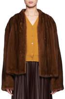 The Row Moona Open-Front Mink Fur Jacket