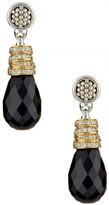 Lagos Sterling Silver & 18K Yellow Gold Embrace Diamond Accent Black Spinel Drop Earrings - 0.23 ctw