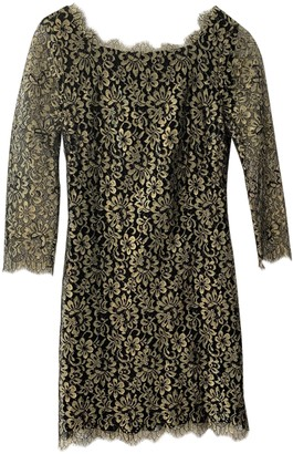 Diane von Furstenberg Gold Lace Dresses