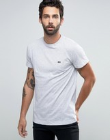 Lacoste T-shirt With Logo In Regular Fit Grey
