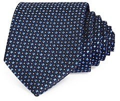 The Men's Store at Bloomingdale's Squares & Dots Neat Silk Classic Tie - 100% Exclusive