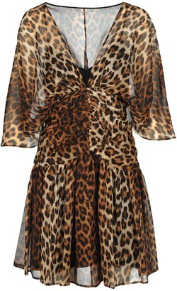 N°21 N21 Leopard Print Silk Mini Dress