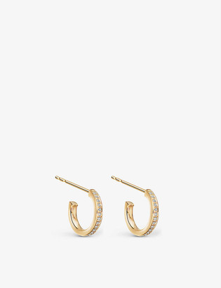 Astley Clarke Sapphire Biography infinity hoop 18ct yellow-gold vermeil sterling silver and sapphire earrings