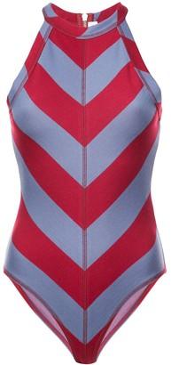 Proenza Schouler White Label PSWL Diagonal Stripe Bodysuit