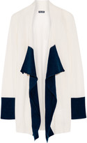 Splendid Two-tone cashmere cardigan