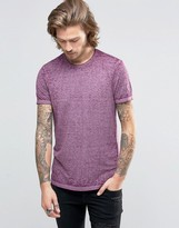 Asos T-Shirt With Raw Neck With Wash