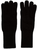 Portolano Leather-Trimmed Cashmere Gloves