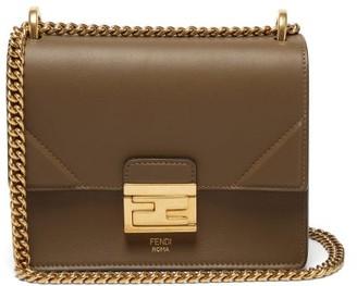 Fendi Kan U Mini Leather Cross-body Bag - Khaki