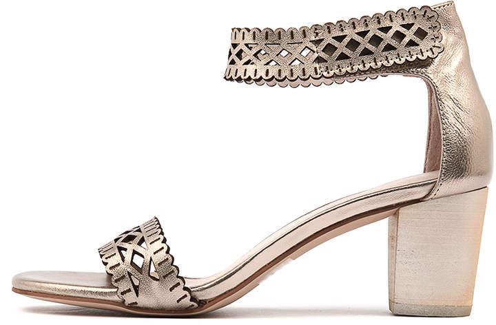 Django & Juliette Cajun Champagne Sandals Womens Shoes Casual Heeled Sandals