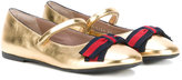 Gucci Kids - ballerinas - kids - Calf Leather/Leather/rubber - 28