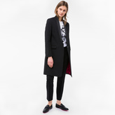 Paul Smith Women's Black 'Musical Note' Jacquard Coat