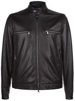 Z Zegna Leather Biker Jacket