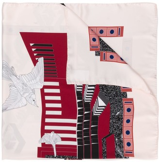 Cédric Charlier Abstract-Print Scarf