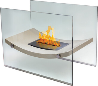 Anywhere Fireplaces Broadway High Gloss Fireplace With Tempered Glass