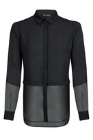 Select Fashion Fashion Womens Black Oversized Panel Shirt - size 6