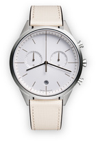 Uniform Wares C39 Women's chronograph watch in polished steel with mist textured calf leather strap
