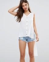 MinkPink Long Line Sleeveless Shirt