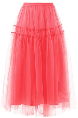 Molly Goddard Lottie Tiered Tulle Skirt - Pink