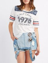 Charlotte Russe California Burnout Football Tee