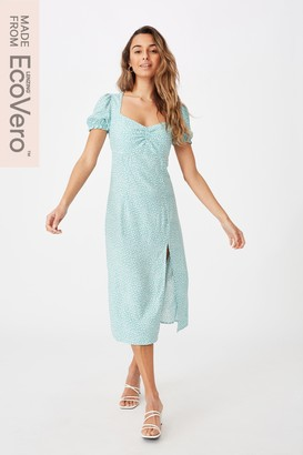 Supre Zendaya Peasant Sleeve Midi Dress