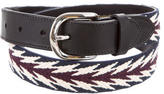 Isabel Marant Leather-Trimmed Buckled Belt