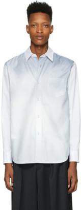 Fumito Ganryu White and Blue Watteau Shirt